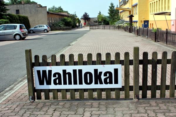 Wahllokal in Großsteinberg