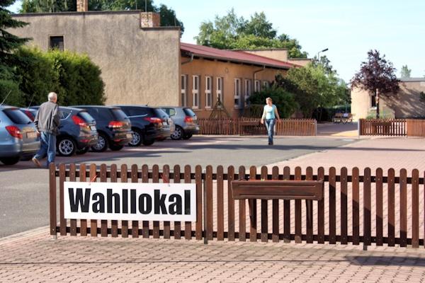 Das Wahllokal in Großsteinberg