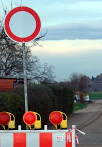 Nordstraße: Durchfahrt gesperrt